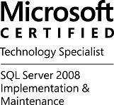 MCTS-SQLSvr08ImpMaint-logo-BW